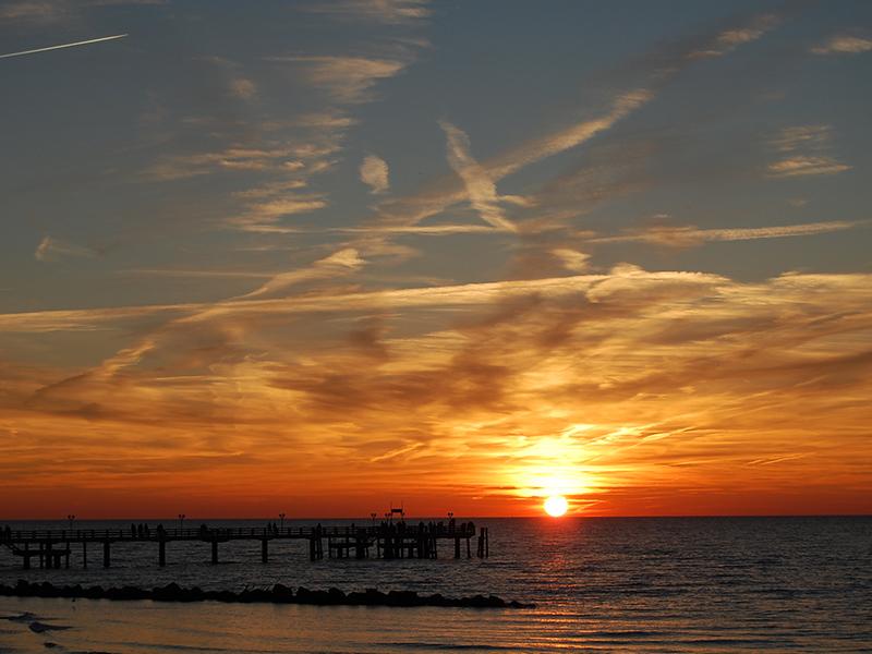 Wustrow <br>Sonnenuntergang